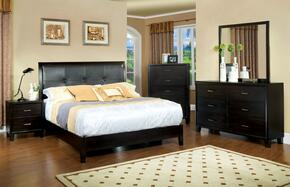 Enrico I Collection CM7088EKSET 5 PC Bedroom Set with Eastern King Size Platform Bed + Dresser + Mirror + Chest + Nightstand in Espresso Finish