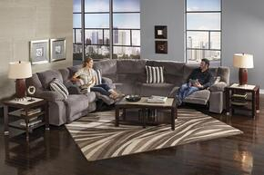 Hammond Collection 61441-8-9-2776-58/2778-58 3-Piece Sectional with Power Reclining Sofa, Corner Wedge and Power Reclining Loveseat in Granite and Pillows in Graphite
