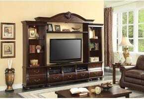 Bycrest 91298SET 2 PC Entertainment Center Set with TV Stand + Entertainment Center in Cherry Finish
