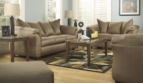 75002384PCKIT Darcy 4-Piece Living Room Set with Sofa + Loveseat + Chair & Ottoman in Mocha