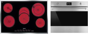 "2-Piece Kitchen Package With S2773CXU 36"" Electric Cooktop and SC770U 27"" Electric Single Wall Oven in Stainless Steel"
