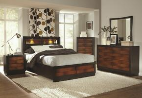 202911KE6P Rolwing 6 Piece Bedroom Set with King Storage Bed, Chest, Dresser, Mirror and Two Nightstands