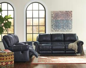 Milhaven 6330487SL 2 PC Living Room Set with Reclining Power Sofa + Reclining Power Loveseat in Navy Color