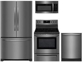 4-Piece Black Stainless Steel Kitchen Package with FFHG2250TD 36
