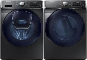 "White Front Load Laundry Pair with WF45K6500AW 27"" Front Load Washer and DV45K6500EV 27"" Electric Dryer"
