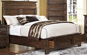 00186EBDMNC Grandview 5 Piece Bedroom Set with Storage King Bed, Dresser, Mirror, Nightstand and Media Chest, in Brown