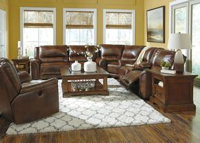 Autumn Collection MI-3680PSSR-HARN 2-Piece Living Room Set with Power Operated Sectional Sofa and Power Rocker Recliner in Harness