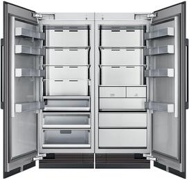 "60"" Panel Ready Side-by-Side Column Refrigerator Set with DRR30980LAP 30"" Left Hinge Refrigerator, DRZ30980RAP 30"" Right Hinge Freezer, and Installation Kit"