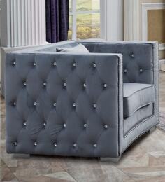 Cosmos Furniture ZIONCHAIRGREYVELVET