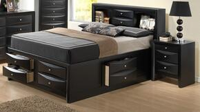 G1500GFSB3N 2 Piece Set including Full Size Bed and Nightstand in Black