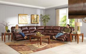 Austin Collection 64205-8-9-1166-09/1266-09 3-Piece Sectional with Power Reclining Sofa, Wedge and Power Reclining Loveseat in Chocolate