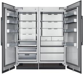 "66"" Panel Ready Side-by-Side Column Refrigerator Set with DRR30980LAP 30"" Left Hinge Refrigerator, DRZ36980RAP 36"" Right Hinge Freezer, and Installation Kit"