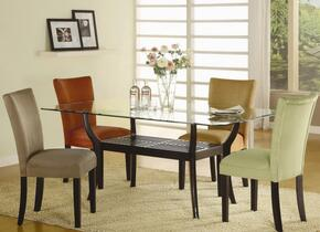 101491TSET5 Bloomfield 5 PC Rectangle Dining Set (Table and 4 Side Chairs with Terracotta Ochre Upholstery)