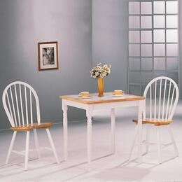 4191SET Damen 5 Pcs Dining Room Set in Two Tone (Table and 4 Side Chairs)