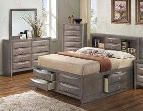 G1505GKSB3DM 3 Piece Set including  King Size Bed, Dresser and Mirror in Gray