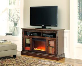 Mallory Collection EN-141-70F12 2-Piece Set with TV Stand and Fireplace Insert in Dark Brown