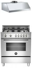 "2-Piece Stainless Steel Kitchen Package With PRO304GASX 30"" Professional Series Gas Freestanding Range and free KU30PRO1XV 30"" Professional Series Range Hood"
