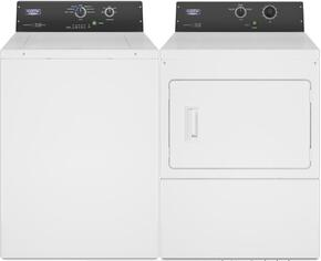 Commercial Laundry Pair with MAT20MNAWW 2.9 cu. ft. Top Load Washer and MDE20MNAYW 7.4 cu. ft. Electric Dryer