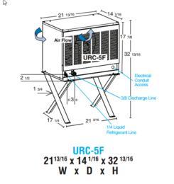 """URC-5F 22"""" Remote Condens......"""