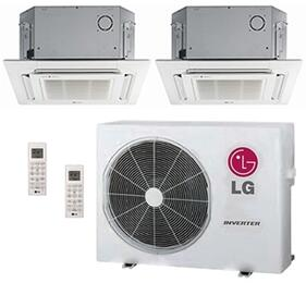 LMU24CHVPACKAGE28 Dual Zone Mini Split Air Conditioner System with 24000 BTU Cooling Capacity, 2 Indoor Units, Outdoor Unit, and 2 PT-UQC Grille Kits