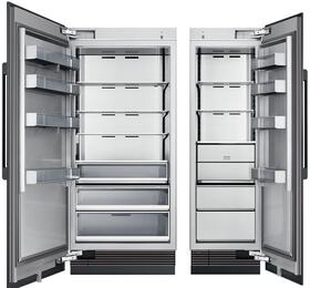 "54"" Panel Ready Side-by-Side Column Refrigerator Set with DRZ24980RAP 24"" Right Hinge Freezer, and DRR36980LAP 36"" Left Hinge Refrigerator"