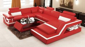 VIG Furniture VGEV6139BLREDWHT