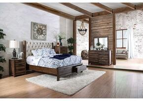 Hutchinson Collection CM7577QSBDMCN 5-Piece Bedroom Set with Queen Storage Bed, Dresser, Mirror, Chest and Nightstand in Rustic Natural Tone Finish