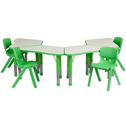 Flash Furniture YUYCY0910034TRAPTBLGREENGG