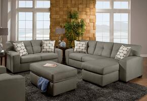 1851079335SECVLDSLO Rockland Sofa Chaise + Loveseat + Ottoman with 16 Gauge Border Wire, Hi-Density Foam Cores, Sinuous Springs, Toss Pillows and Solid Kiln Dried Hardwoods in Victory Lane Dolphin