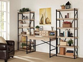 "Emery ER-EME-K-BKDHTCH-S Home Office Set with 48"" Desk, Hutch, and Two 72"" Bookcases in Salvage Oak Finish"