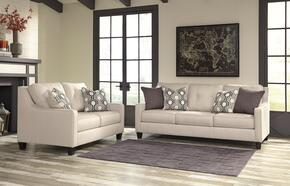 Guillerno 71801SL 2-Piece Living Room Set with Sofa and Loveseat in Alabaster Color