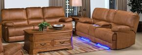 2030930CYBSL Montana 2 Piece Manual Recline Living Room Set with Sofa and Loveseat, in Brown