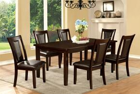 Emmons I Collection CM3910T6SC 7-Piece Dining Room Set with Rectangular Table and 6 Side Chairs in Dark Cherry Finish