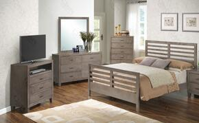G1205CTB2DMTV 4 Piece Set including Twin Bed, Dresser, Mirror and Media Chest  in Gray