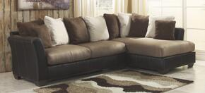 1420166172PCKIT2 Masoli Two-Toned 2-Piece Living Room Set with Right Chaise Sectional Sofa and Chair and a Half in Mocha