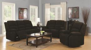 Gordon 601461SETA 3 PC Living Room Set with Sofa + Loveseat + Recliner in Dark Brown Color