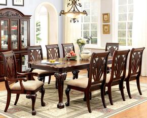 Petersburg I Collection CM3185T6SC2ACHB 10-Piece Dining Room Set with Rectangular Table and 6 Side Chairs, 2 Arm Chairs and Hutch with Buffet in Cherry Finish