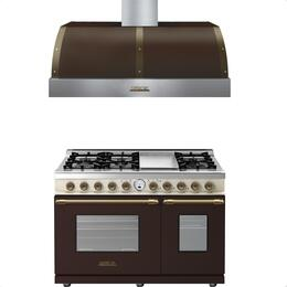 2-Piece Brown and Cream Matte with Bronze Accent Kitchen Package with RD482SCMCB 48