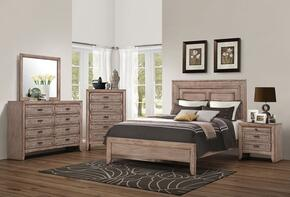 Ireton 26027EK5PC Bedroom Set with Eastern King Size Bed + Dresser + Mirror + Chest + Nightstand in Caramel Color