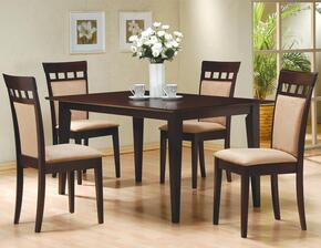 100771SET Mix & Match 5 PC Dining Set (Table, 4 Chairs) by Coaster Co.