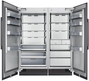 "66"" Panel Ready Side-by-Side Column Refrigerator Set with DRZ30980RAP 30"" Right Hinge Freezer, DRR36980LAP 36"" Left Hinge Refrigerator, and Installation Kit"