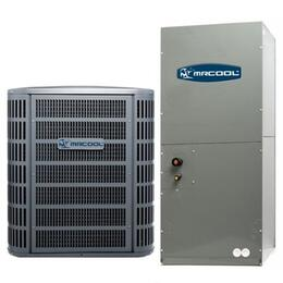 MACH13048 A/C Condenser and Air Handler 13SEER R410A with 48000 BTU Nominal Cooling, High-efficiency compressor and Aluminium micro channel heat exchanger.