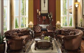 520804PC Versailles 4 PC Living Room Set with 2 Sofas and 2 Living Room Chairs in Cherry Oak