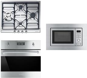 """3-Piece Kitchen Package with SR60GHU3 24"""" Gas Cooktop, SU45MCX1 24"""" Single Wall Oven, and KUMI20XU 24"""" Built In Microwave"""