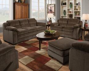 Felisha 52335SLCO 4 PC Living Room Set with Sofa + Loveseat + Chair + Ottoman in Maui Chocolate Color