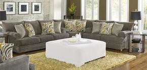 Crompton Collection 4462-SLW-2000-88/2860-27 3-Piece Living Room Set with Sofa, Loveseat and Wedge in Pewter