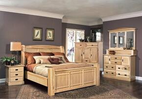 AHINT5170K6P Amish Highlands 6-Piece Bedroom Set with Arch Panel King Bed, Chest, Dresser, Mirror and Two Nightstands