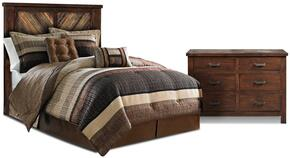 Riviera Collection HH-4280-2PC 2 Piece Bedroom Set with Bed + Dresser