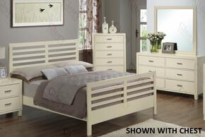 G1290CQB2DM 3 Piece Set including Queen Size Bed, Dresser and Mirror in Beige