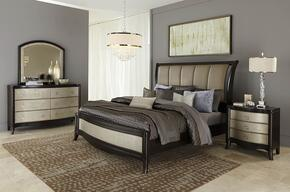 Sunset Boulevard 769BRQBDM 3-Piece Bedroom Set with Queen Sleigh Bed, Dresser and Mirror in Coffee Bean Finish